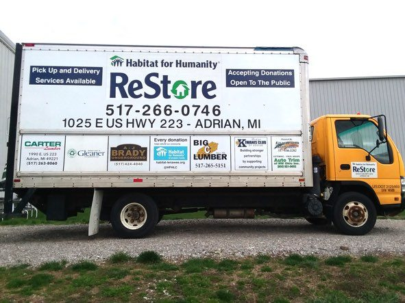 Habitat for Humanity of Lenawee County ReStore truck