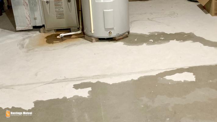 water heater leak in home basement