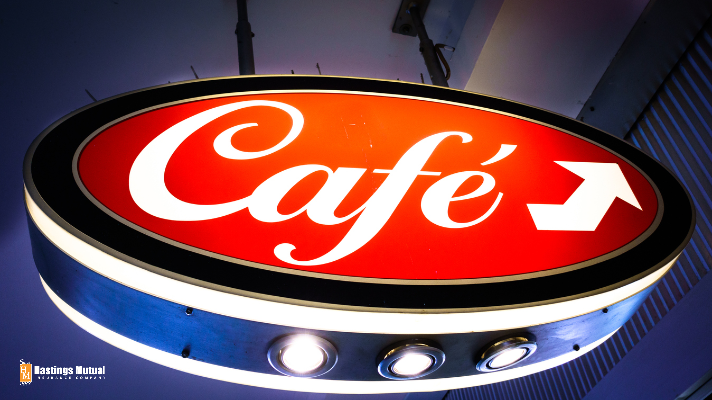 outdoor sign for cafe business