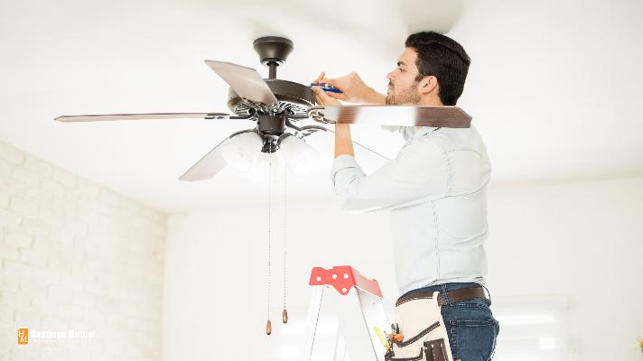 seasonal home owner making repairs