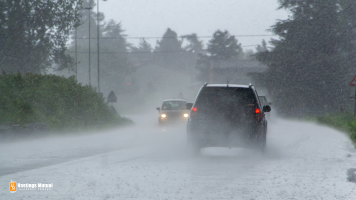 You need an umbrella, especially when you're driving.