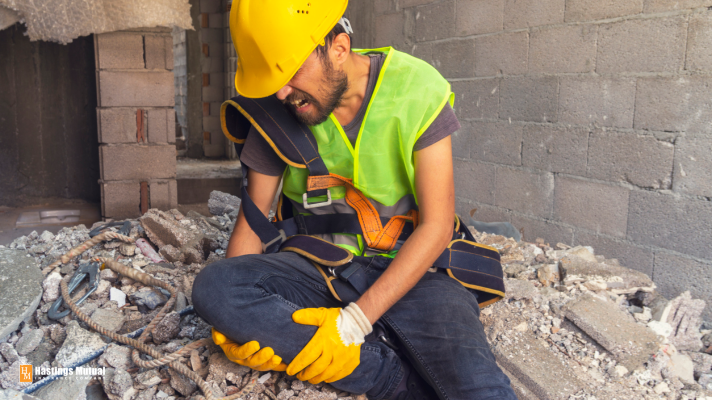 Injured construction worker - this is a good time to call the FirstCall Work Injury Hotline.