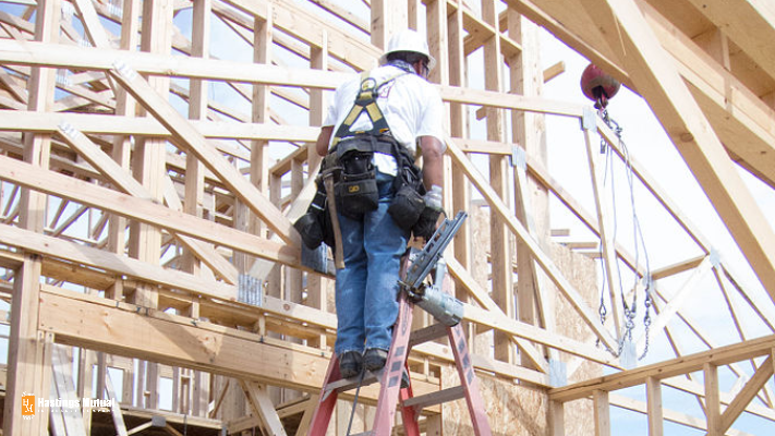 residential contractor building a home