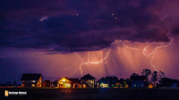 Stay safe when lightning strikes.