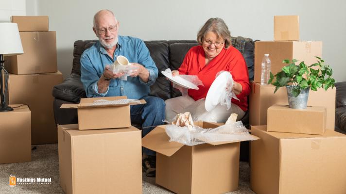Seniors Packing Boxes