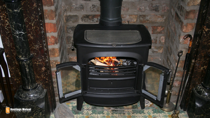 stove fireplace inside house or home